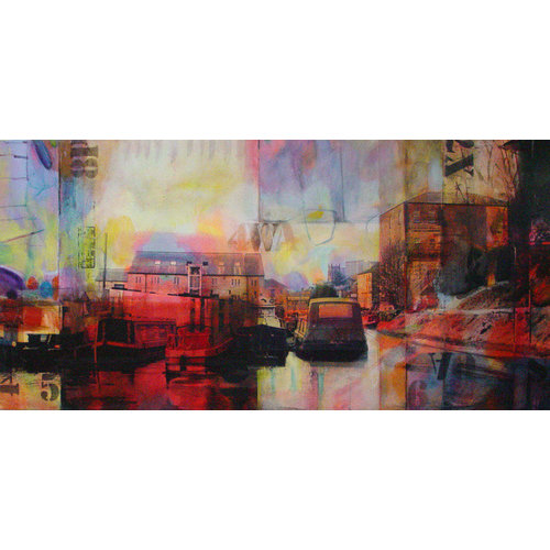 Kate Boyce Art Canal Basin, Sowerby Bridge drucken 19