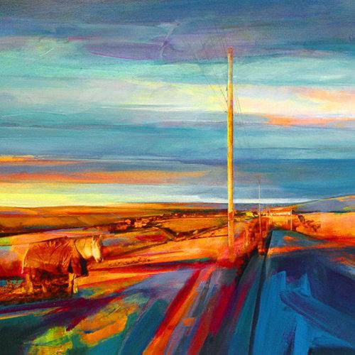 Kate Boyce Art An Evening Walk, Akroyd Lane card  12