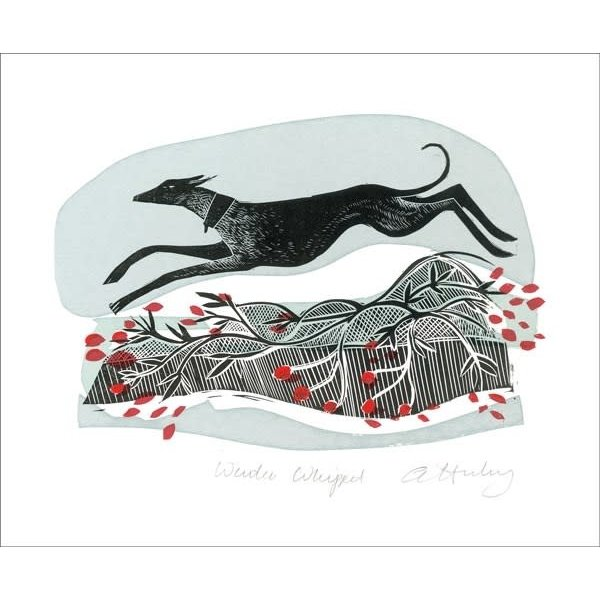 Winter Whippets by Angela Harding