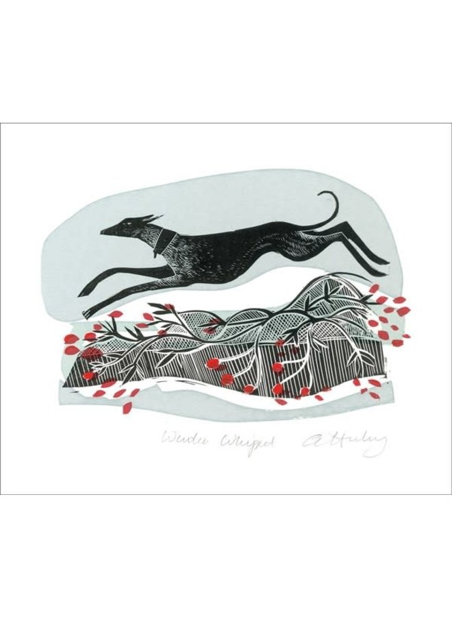 Winter Whippets von Angela Harding