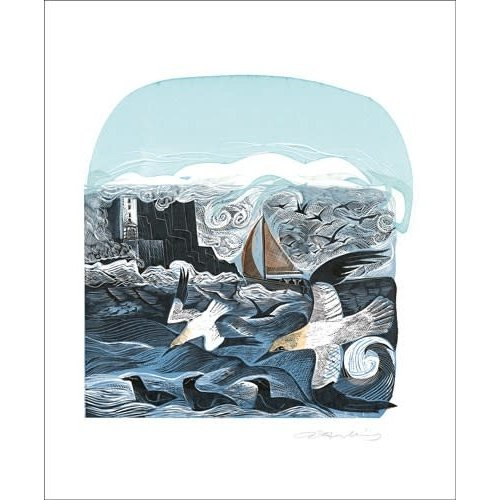 Art Angels Gannets at Rathlin Island by Angela Harding