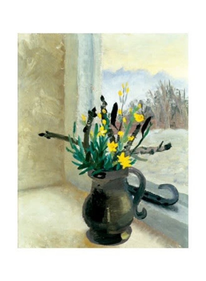 Horse Chestnut Buds and Winter Flowering Jasmine by Winifred Nicholson