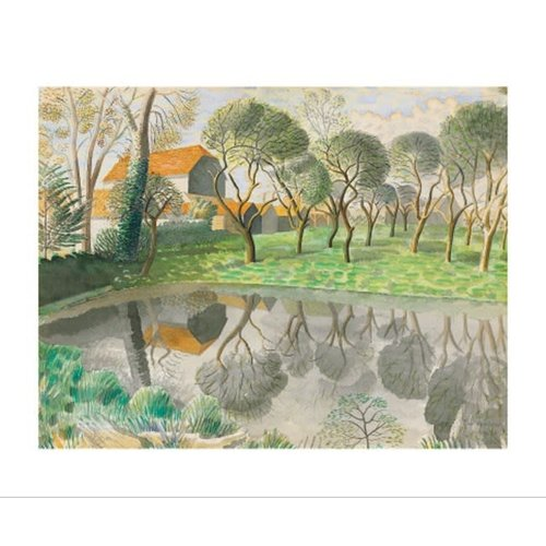 Art Angels Newt Pond by Eric Ravilious