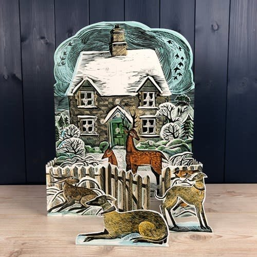 Art Angels Christmas Cottage  Advent Calendar by Angela Harding