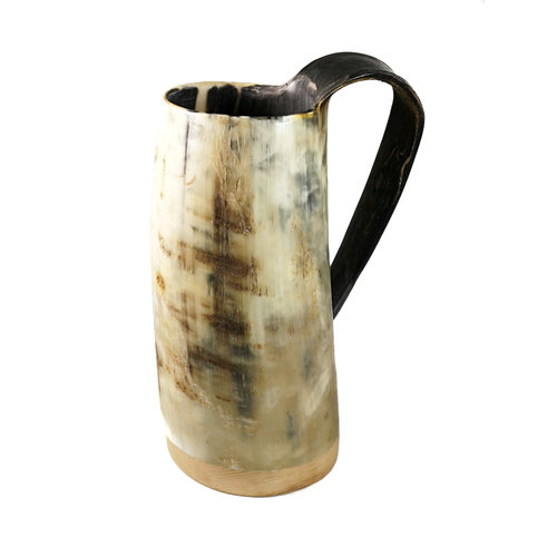 Abbey Horn Rustikaler Trinkbecher Oxhorn Nr. 6 mit konischem Henkel