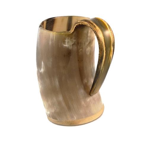 Abbey Horn Trinkbecher aus poliertem Horn mit verschweißtem Griff 48