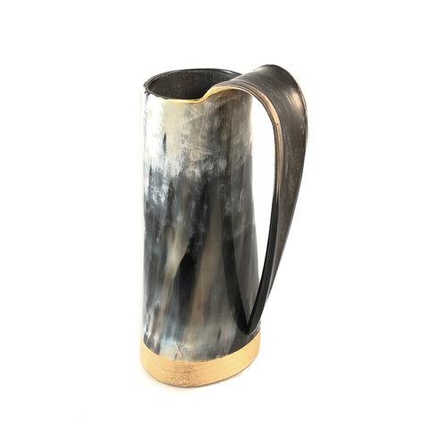 Abbey Horn Taza para beber de cuerno pulido Mango roscado 47