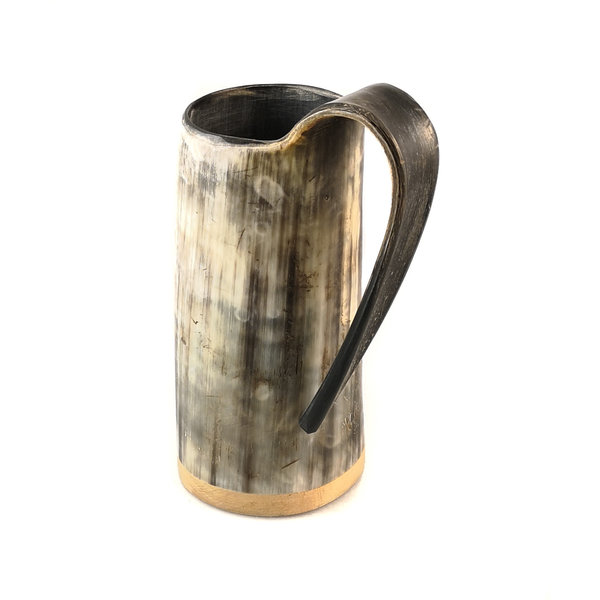 Rustic Drinking  Mug Horn Tappered Handle 42