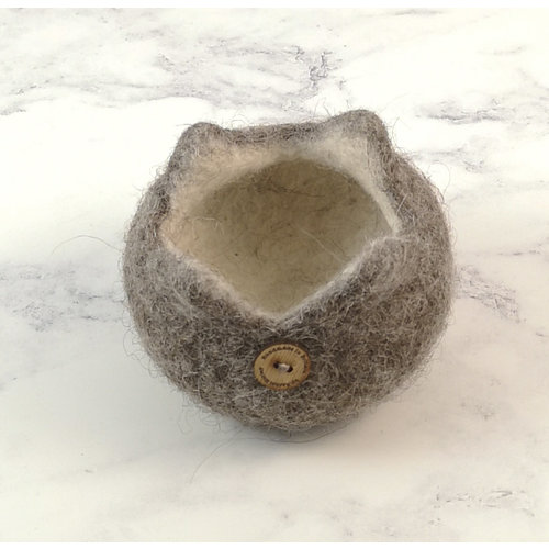 Rachel Morley Rare Breed Felt Bowl Jacob Sheep 13
