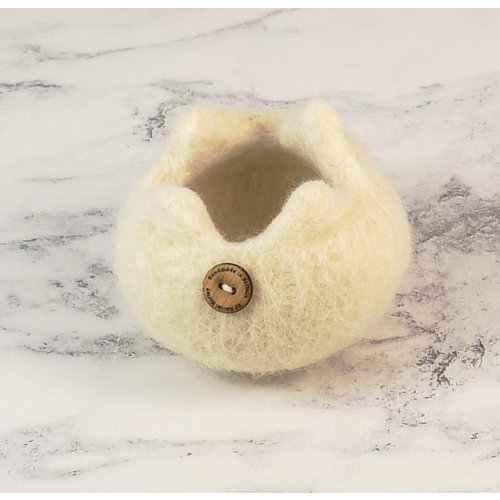 Rachel Morley Rare Breed Felt Bowl Whitefaced Woodland Sheep 12
