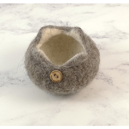 Rachel Morley Rare Breed Felt Bowl  Cheviot Sheep 07