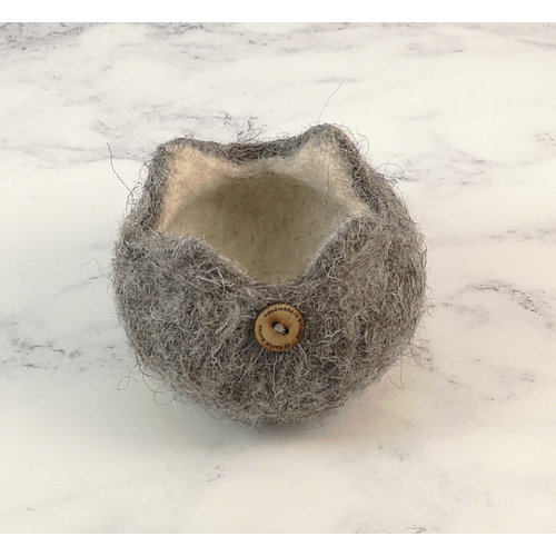 Rachel Morley Rare Breed Felt Bowl  Herdwick Sheep 04