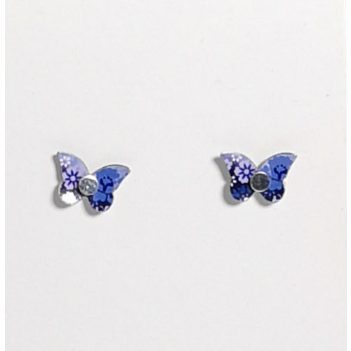 The Tinsmith Tiny Butterfly pendientes de plata y estaño 21
