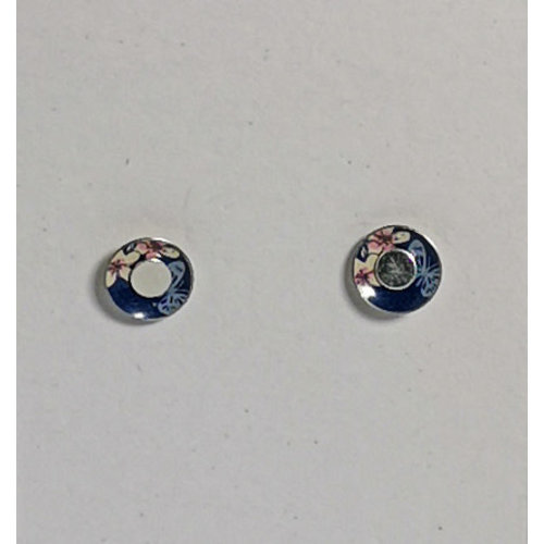The Tinsmith Tiny Cherry  tin & silver  stud earrings 11