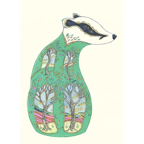 Daniel Mackie Green Badger  Card