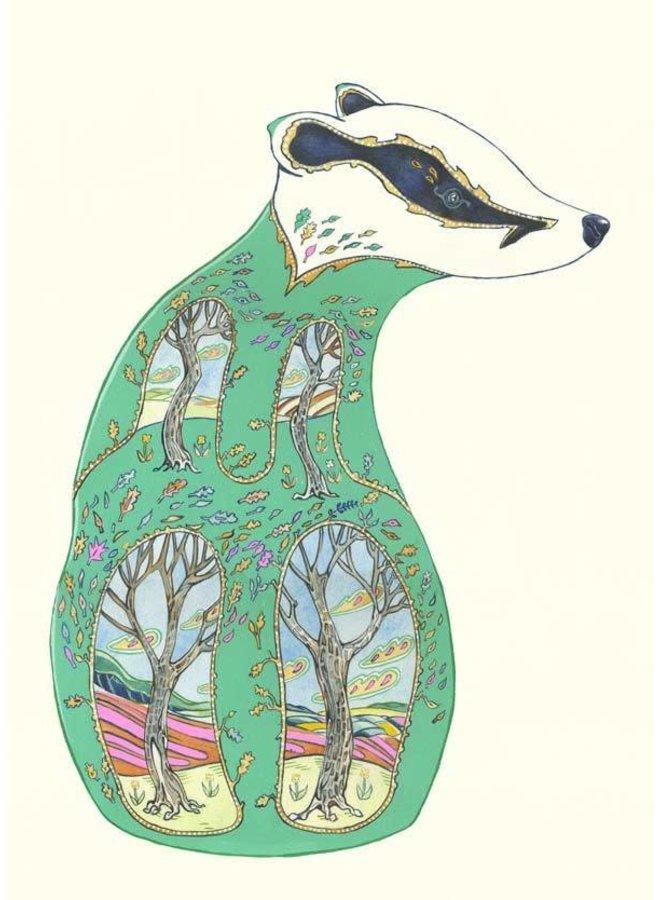Green Badger  Card