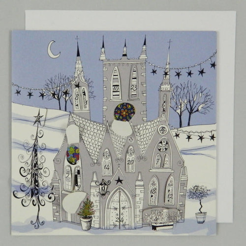 Swiss Kiss Gothic Church  Advent Card 01