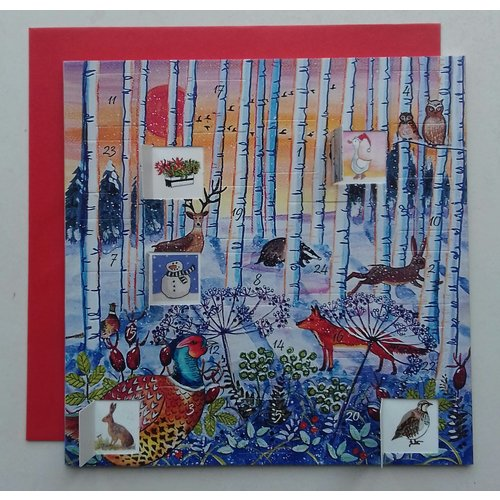 Swiss Kiss Winter Wonderland Advent Card