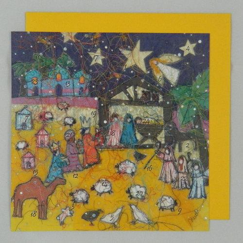 Swiss Kiss Nativity Night Advent Card