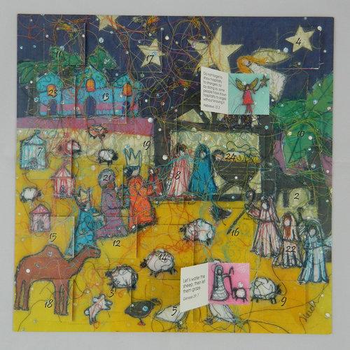 Swiss Kiss Nativity Night Advent Calendar by Heidi Rhodes