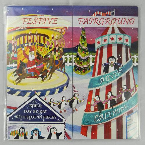 Swiss Kiss Festive Fairground Slot-In  Advent Calendar Reusable by Julia Rgby