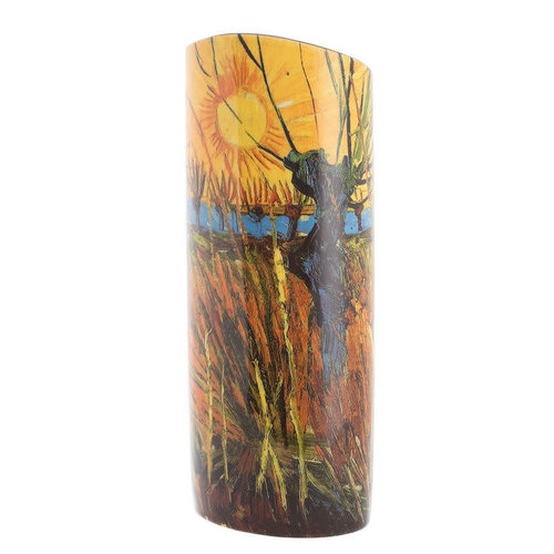 Dartington Crystal Ltd Willows at Sunset by Van Gough  Silhouette Art Vase 101