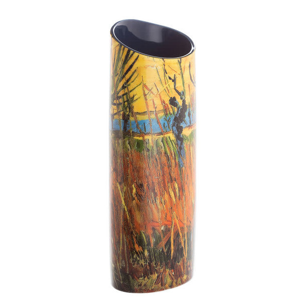 Willows at Sunset by Van Gough  Silhouette Art Vase 101