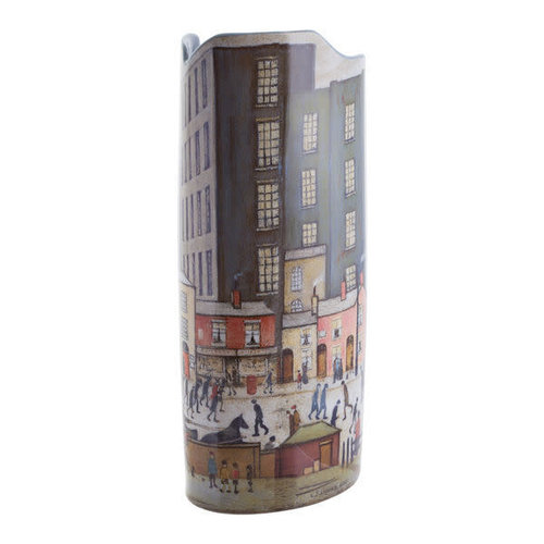 Dartington Crystal Ltd Lowry Coming from the Mill Silhouette Art Vase 019