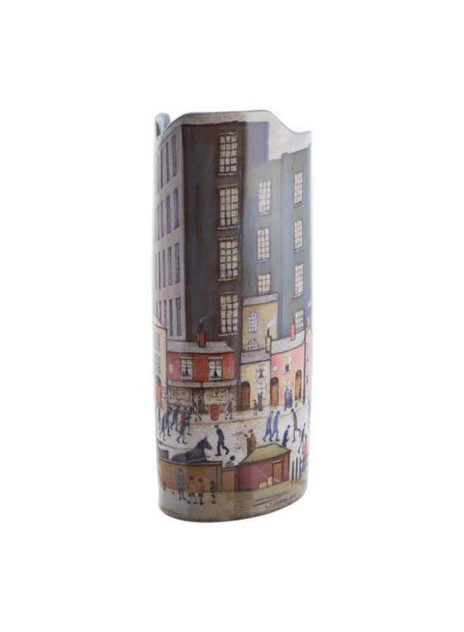 Lowry Coming from the Mill Silhouette Art Vase 019