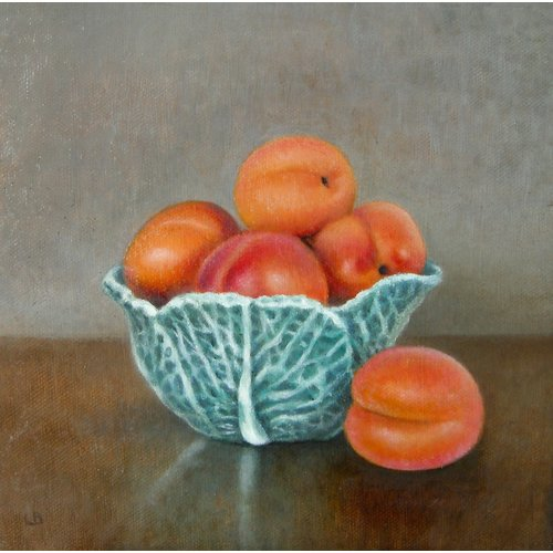 Linda Brill Cabbage Bowl and Apricots 031