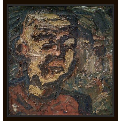 Barry De More Mann in der roten Oberseite auf grünem Öl 027