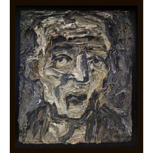Barry De More Head in Gray  oil 025