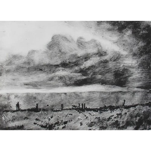 Pete Marsh Rain in the City No. 1 Monoprint 12