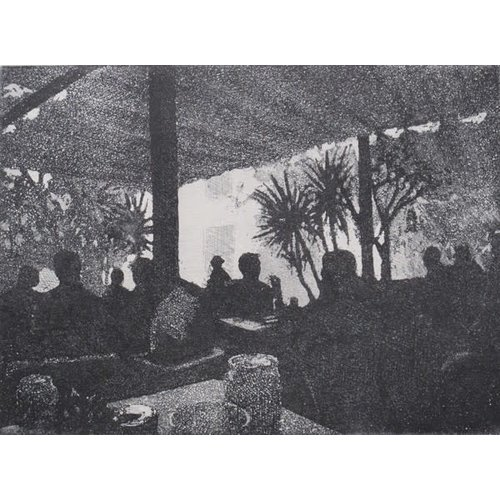 Pete Marsh Cafe-Barca  6 of 10 etching 07