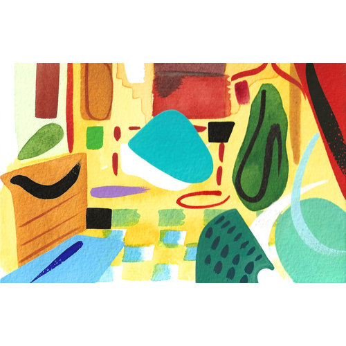 Lisa V Robinson Abstract  Interior  2 gouache and watercolour 04