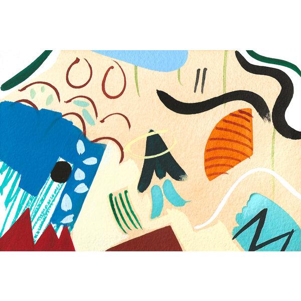 Abstract  Interior  1 gouache and watercolour 03