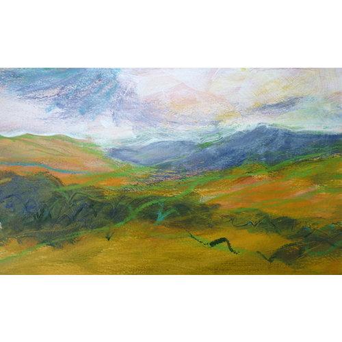 Liz Salter Flowing Hills -   mixed media 043