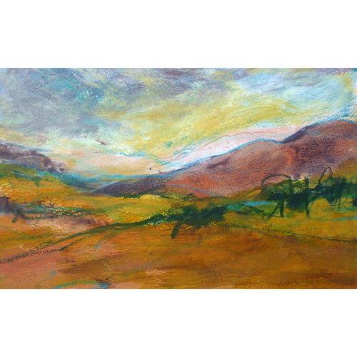 Liz Salter Pink Hill -  mixed media 041