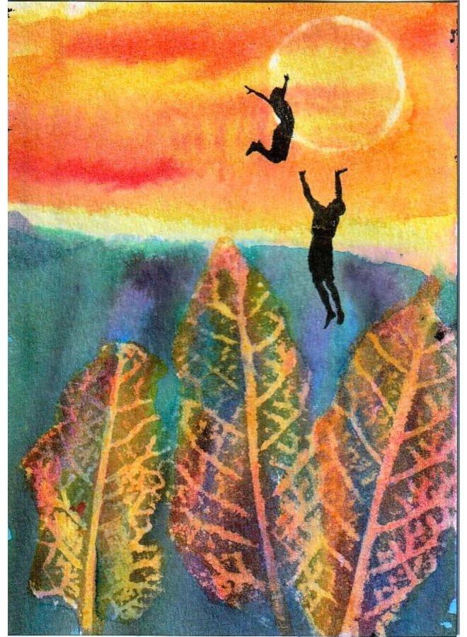 Acrobatics sunset