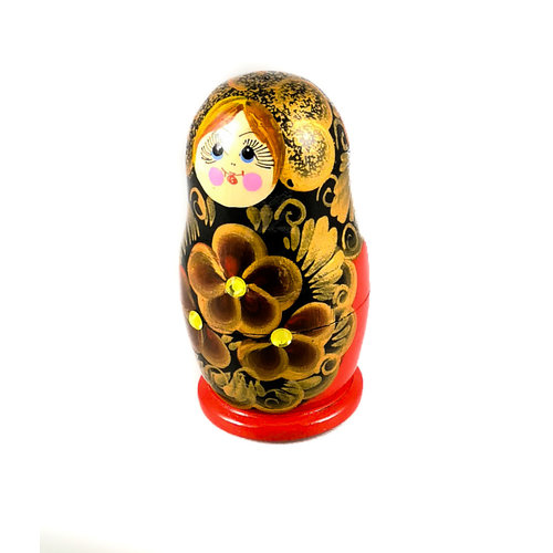 Russian Gifts Nesting Martyoshka Doll Red with sequins  Small 107