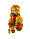 5 Nesting Martyoshka Doll  Yellow  with Flowers  Small 103