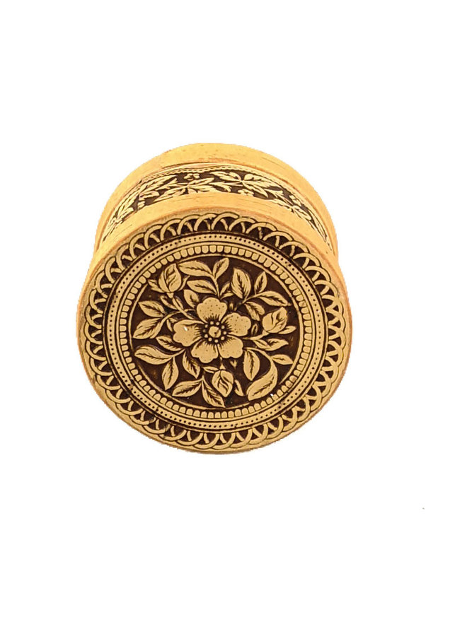 Blume runde Deckel Birkenrinde Box klein 120