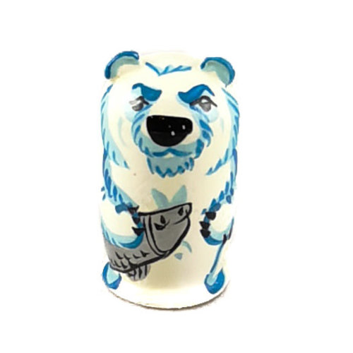 Russian Gifts 5  Nesting Polar Bear with Fish and seal  mini  118