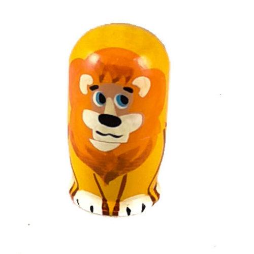 Russian Gifts 5  Nesting  Lion  mini  117