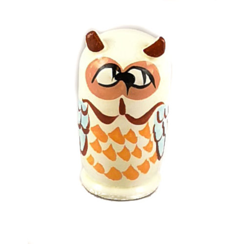 Russian Gifts 5  Nesting  Snowy Owl  mini  115