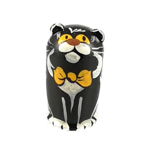 Russian Gifts 5  Nesting  Black Cat  mini  114