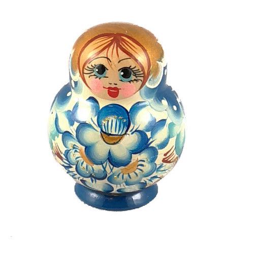 Russian Gifts 10 Muñeca Martyoshka Nesting Azul Pequeña 112