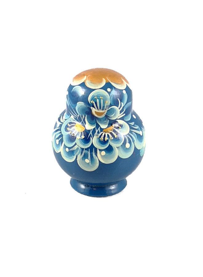 10 Nesting Martyoshka Doll Blue Small 112