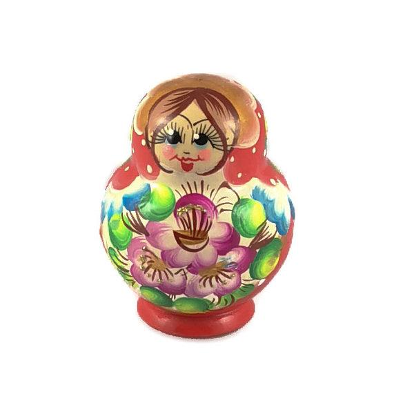 10  Nesting  Martyoshka Doll Red small 110