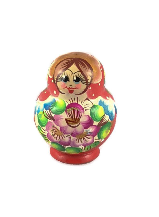 10 Nesting Martyoshka Doll Red klein 110